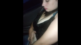 Young ashley plays with her pussy on road trip