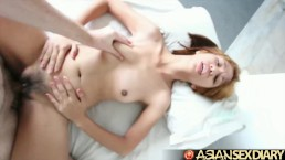 Asian Sex Diary - Sweet Filipina babe fucked by big white cock