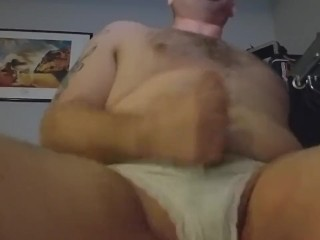 Wearing my wife's panties and masturbating Part6