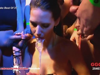 Drinking cum from pussy