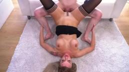 MOM Blonde Russian MILF Elen Million blowjob and piledriver fuck