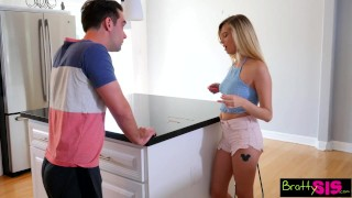 Se bratty stealing sister on sis gives a step bro big lesson carolina view