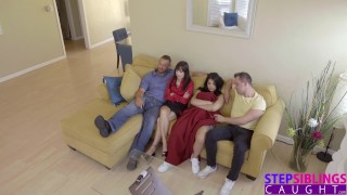 StepSiblingsCaught - Cumming Inside My StepSis During Movie! S8:E1 porno