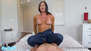 Mom rides stepson and begs for creampie Sucking trimmed