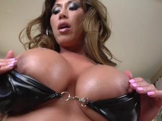 Big Tit Asian MILF Kianna Dior Throats Huge Cock