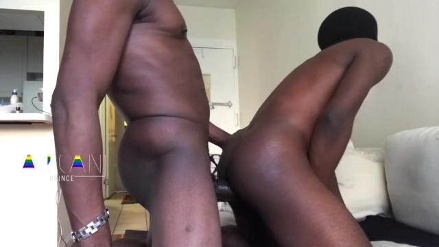 African gay man sexy - Hung black daddy barebacks african stud