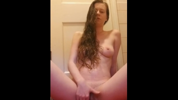 Squirter teases herself with a toy