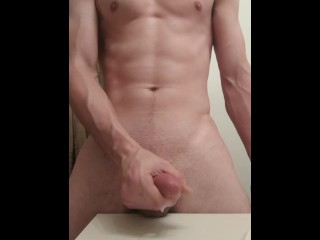 Jerking my thick dick for the second time