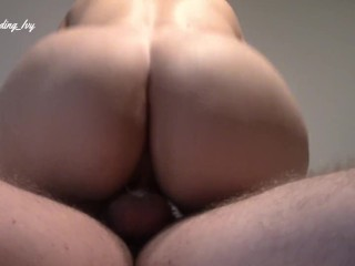 Tight MILF pussy makes him cum to fast/ he came early
