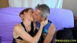 Hot Make-Out 4 - 18 year old and 50yo Daddy Kissing - Jessie Russel