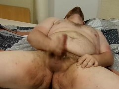 Chubby camboy with a thick fat cock King Marti jerks off Blue Ball Relief