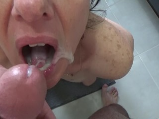 Failed swallow, too much cum in my mouth