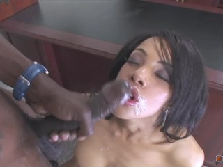 Alicia Sneaked Into Her Bosses Office And Started Masturbating