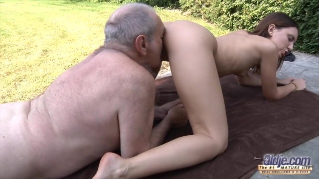 Grandpa fucks young pussy so tight and wet ready for cum 4