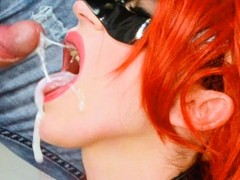 Oral creampie, cum in mouth and closeup blowjob - hot amateur compilation
