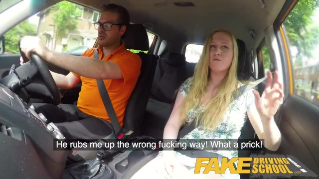 Fake Driving School Ex learner Satine Sparks arse spanked red raw 18