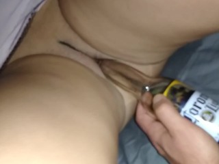 Tinder Milf gets drunk & I fuck her on the first date and cum on her pussy