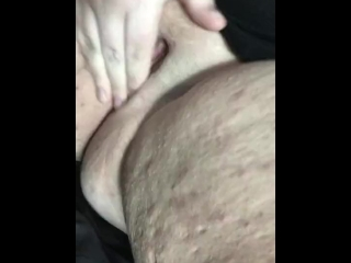 BBW playing with her pussy