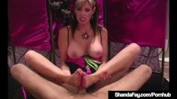 Hosed & Barefoot Cougar Shanda Fay Foot Fucks A Hard Cock!