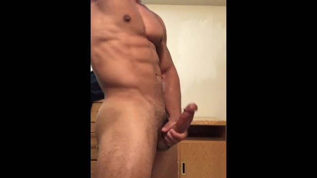 Masturbation big balls Sexy stud jerking off until he drains his balls