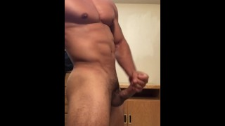 Sexy stud jerking off until he drains his balls Boy beating