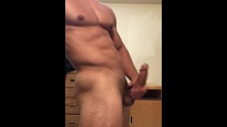 Stud drains until jerking he balls off sexy his big edging