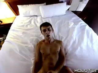 Jacobey London has ass penetrated with toys and raw dick