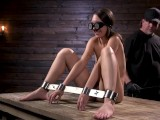 Newcomer Jade Nile is bound and tormented in device bondage