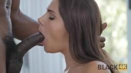 BLACK4K. Very huge cock of black master turns white slut crazy again