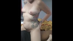 White Girl Bouncing On My BBC