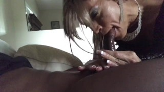 Glamgurlxoxo gives Chocolatemanz wet sloppy head