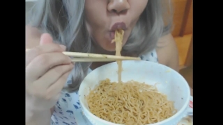 Cute feedee eats noodles for her feeder  bbw feeding point of view teen bbw amateur eating chubby pov fat fetish kink feederism weight gain feeding feedism