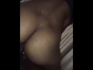 Light skin babe riding big dick