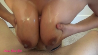 Asian massage girl titty fucked and cum blasted  big natural tits asian massage oil massage cum on tits big cock homemade amateur pov massage milf interracial happy ending mother big boobs amateur couple titty fuck