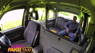Female Fake Taxi Busty tattooed drivers ass fucked by Australian hunk Standing rope
