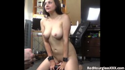 Crystal Cake riding the sybian (and sucking cock)