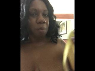 Sexfeene ThroatTraining with Her Big Banana