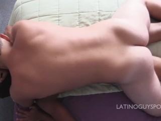 Latin papi Diego dominates and bareback fucks bottom boy Mowli
