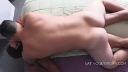 Latin papi Diego dominates and bareback fucks bottom boy Mowli