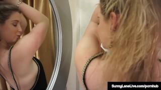 Blonde winning lane up standing sunny award masturbates butt girls