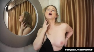 Blonde winning standing masturbates lane up award sunny sexy natural