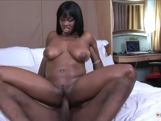 Busty Babe Suga Brown Will Make A Guy To Cum All Over Her Body
