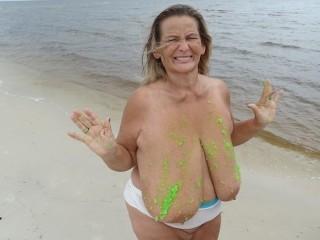 Beach Alien Slime Blobs (includes 78 photo musical slide show)