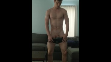 Strip tease and soft stroking