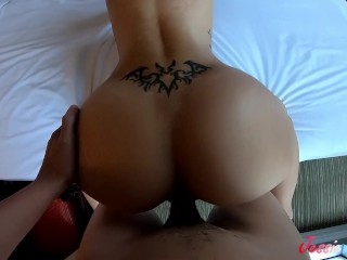 Asian slutty step sister fucked and creampied
