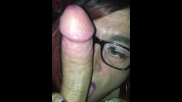Crossdress sucking daddy dick