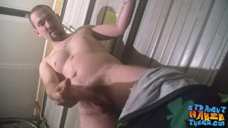 Hairy tough homosexual is eager to spray his big load solo