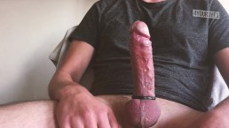 Long edging session ends in huge cumshot! Normal speed and slow motion!