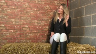 Stable girl Rebecca smokes and strips porno