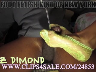 green ankle socks footjob